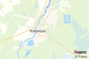 Карта г. Кириши Ленинградская область