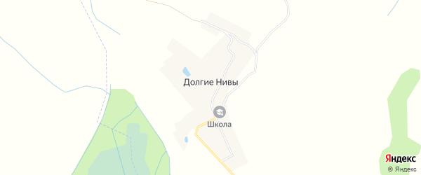 Карта деревни Долгие Нивы в Смоленской области с улицами и номерами домов