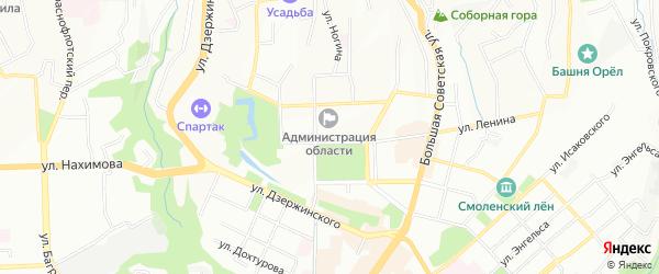Территория садоводческое товарищество СУ-319 Калужтрансстрой на карте Смоленска с номерами домов