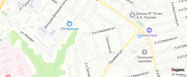 Северный 1-й переулок на карте Смоленска с номерами домов