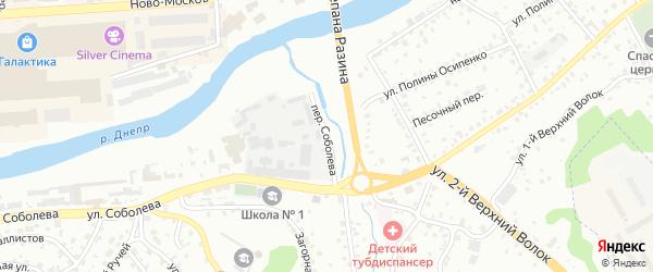 Переулок Соболева на карте Смоленска с номерами домов