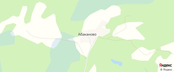 Карта деревни Абаканово в Тверской области с улицами и номерами домов