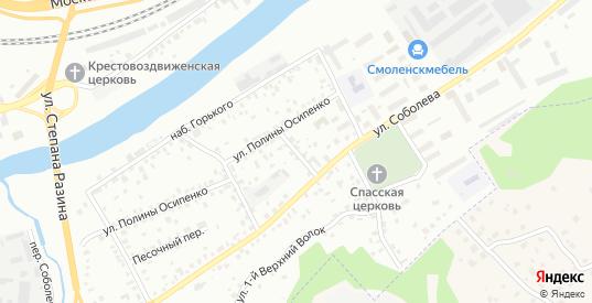 Горького 2-й переулок в Смоленске с номерами домов на карте. Спутник и схема онлайн