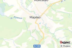 Карта с. Марево Новгородская область