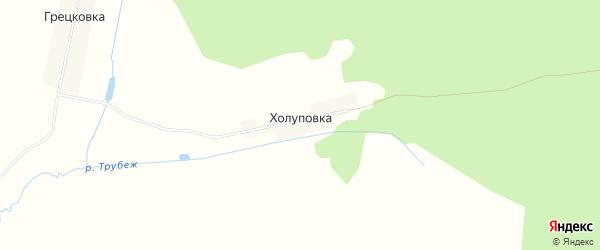 Карта поселка Холуповки в Брянской области с улицами и номерами домов