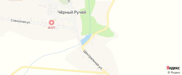 Заозерный переулок на карте деревни Черного Ручья с номерами домов