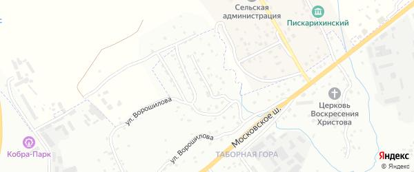 Ворошиловский 1-й переулок на карте Смоленска с номерами домов