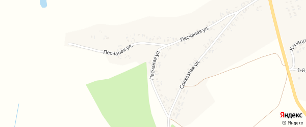 Песчаная улица на карте села Лопатни Брянской области с номерами домов