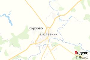 Карта пгт Хиславичи Смоленская область
