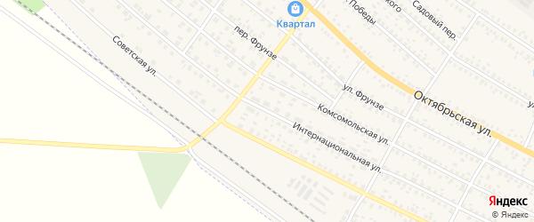 Интернациональная улица на карте поселка Климово Брянской области с номерами домов