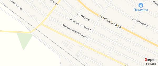 Интернациональная улица на карте поселка Климово с номерами домов
