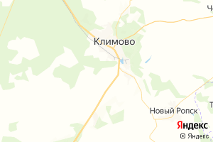 Карта пос. Климово Брянская область