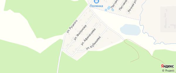Улица Афанасьева на карте села Сачковичей с номерами домов