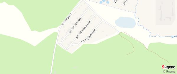 Улица Кубышева на карте села Сачковичей с номерами домов