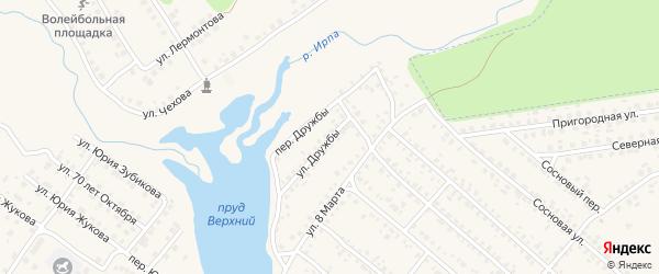 Улица Дружбы на карте поселка Климово с номерами домов