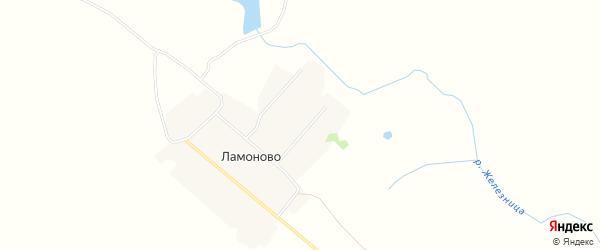 Карта деревни Ламоново в Смоленской области с улицами и номерами домов
