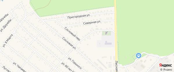 Сосновый переулок на карте поселка Климово с номерами домов