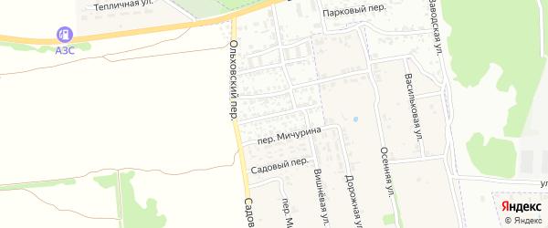 Почтовый переулок на карте Клинцов с номерами домов