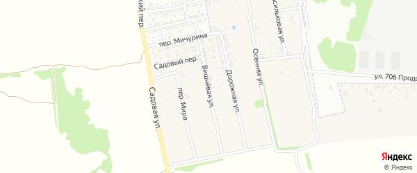 Вишневая улица на карте поселка Первое Маи с номерами домов
