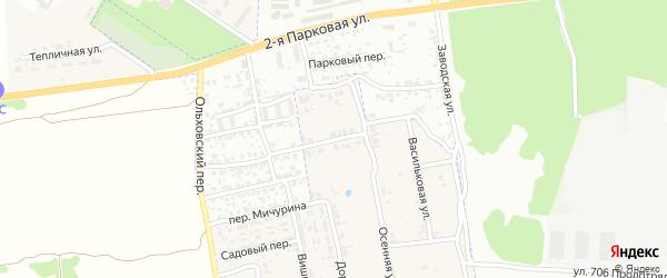 Союзный переулок на карте поселка Первое Маи с номерами домов