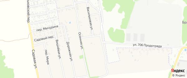 Васильковая улица на карте поселка Первое Маи с номерами домов