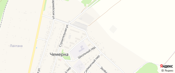Школьная улица на карте поселка Чемерны с номерами домов