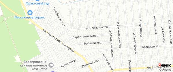 Строительный переулок на карте Клинцов с номерами домов