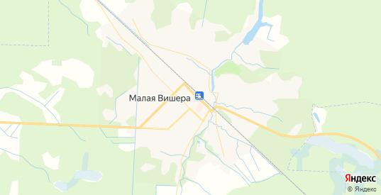 Карта Малой Вишеры с улицами и домами подробная. Показать со спутника номера домов онлайн