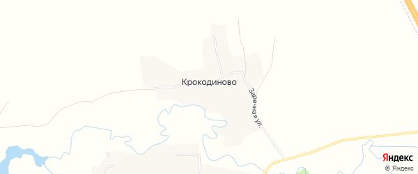 Карта деревни Крокодиново в Смоленской области с улицами и номерами домов