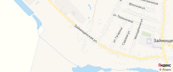 Займищенский переулок на карте села Займища с номерами домов