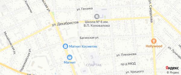 Багинская улица на карте Клинцов с номерами домов