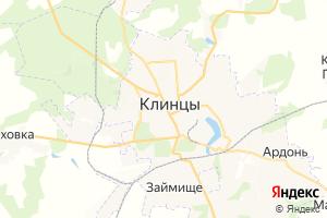 Карта г. Клинцы Брянская область