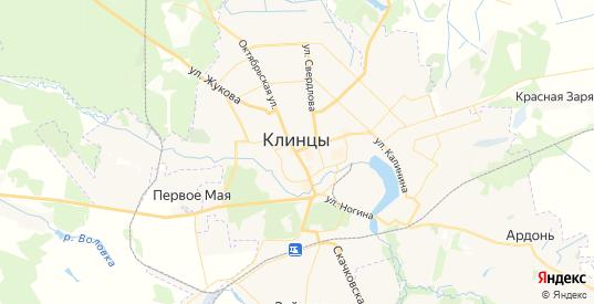 Карта Клинцов с улицами и домами подробная. Показать со спутника номера домов онлайн
