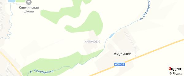 Карта деревни Княжого-2 в Смоленской области с улицами и номерами домов