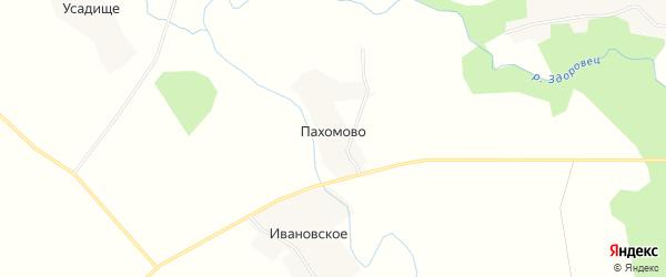 Карта деревни Пахомово в Смоленской области с улицами и номерами домов