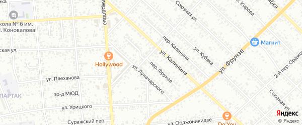 Переулок Фрунзе на карте Клинцов с номерами домов