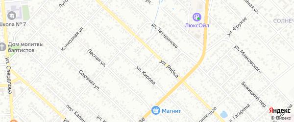 Переулок 2-й Кирова на карте Клинцов с номерами домов