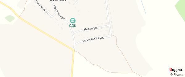 Уколовская улица на карте деревни Бубново Смоленской области с номерами домов