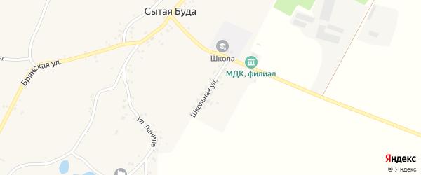 Школьная улица на карте села Сытой Буды с номерами домов