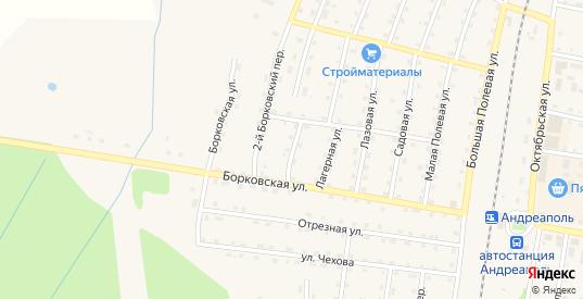 1-й Борковский переулок в Андреаполе с номерами домов на карте. Спутник и схема онлайн