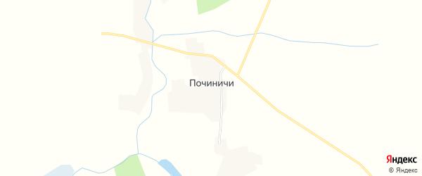 Карта деревни Починичей в Смоленской области с улицами и номерами домов