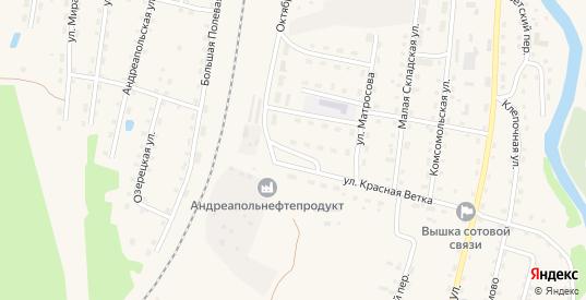 Вокзальный переулок в Андреаполе с номерами домов на карте. Спутник и схема онлайн