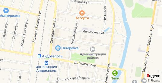 Новгородская улица в Андреаполе с номерами домов на карте. Спутник и схема онлайн