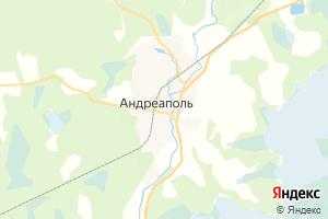 Карта г. Андреаполь Тверская область