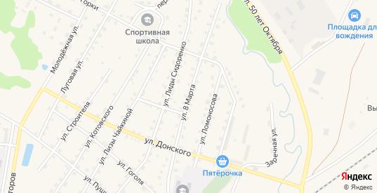 Улица 8 Марта в Андреаполе с номерами домов на карте. Спутник и схема онлайн