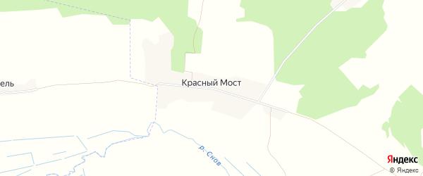 Карта поселка Красного Моста в Брянской области с улицами и номерами домов