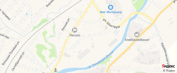 Промышленная улица на карте Андреаполя с номерами домов