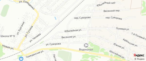 Юбилейная улица на карте Клинцов с номерами домов