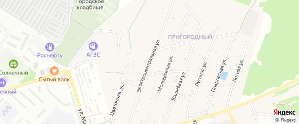 Электроцентральная улица на карте села Коржовки-Голубовки Брянской области с номерами домов