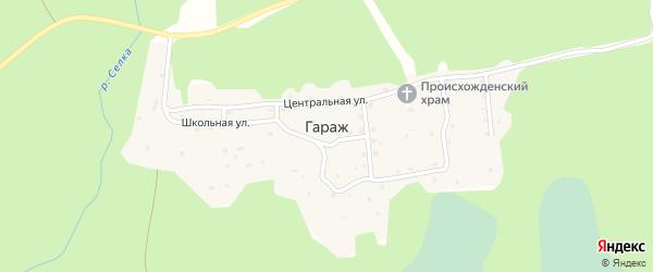 Лесная улица на карте поселка Гаража Тверской области с номерами домов